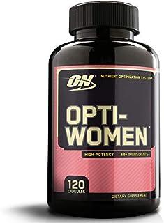 Optimum Nutrition ON Opti-Women. Suplemento Multivitamínico. Multivitaminas y Minerales para Mujeres con Vitamina D. Vitamina C. Magnesio y Acido Folico. sin sabor. 60 porciones. 120 Cápsulas