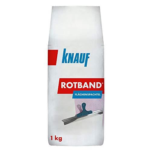 Knauf Rotband Flächenspachtel – schnell härtende Spachtel-Masse zum Spachteln und Glätten von Putz, Mauerwerk etc., leicht zu verarbeiten, Wand-, Decken-Spachtelmasse für Innen-Bereich, 1-kg