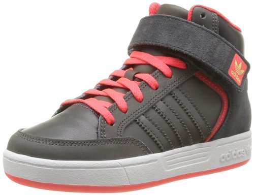 adidas Originals Varial Mid J-5 G98155, Unisex - Kinder Sneaker, Grau (DARK CINDER F09/POP/GLOW S14), EU 32