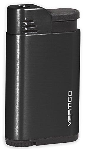 Vertigo Attache Single Jet Flame Lighter - Anodized Black