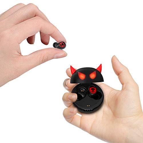 Amaface Kabellose In-Ear-Kopfhörer, Bluetooth, mit Dual-Mikrofon und Touch-Steuerung, 36 Stunden Wiedergabe, Teufel als Geschenk