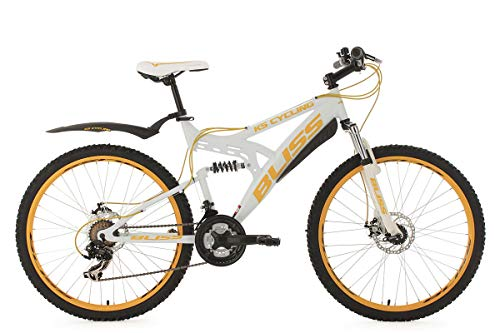 KS Cycling Bliss VTT Tout Suspendu Blanc 26' 47 cm