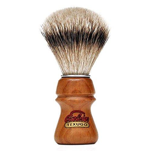 Brocha de Afeitar Semogue 2015 Pelo de Tejon Silvertip Punta de Plata de Dos Bandas