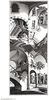 High and Low Art Poster Print by M. C. Escher, 18x32
