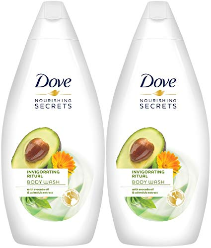Dove Nourishing Secrets Invigorating Ritual Body Wash, Avocado Oil & Calendula Extract, 16.9 Ounce / 500 Ml, Pack of 2