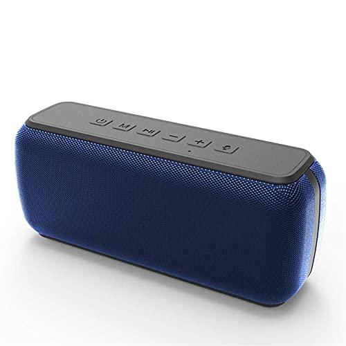 5.0 Bluetooth 60W Altavoz portátil, asistente de sonido de sonido envolvente 360 °, barra de sonido de bajos profundos, altavoz impermeable de IPX5 para bbq de bbq para bbq Dormitorio al aire libre