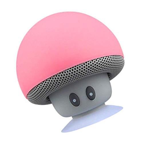 rongweiwang Cartoon Pilz Bluetooth Lautsprecher Saugnapf Telefonhalterung Tragbarer Lautsprecher Bluetooth Lautsprecher im Freien Kleine Stereo
