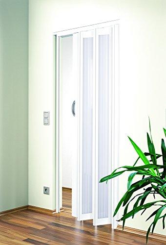 Falttür MARLEY JAZZ Fb. weiss - Fenster weiss Linie B 86 x H 205 cm