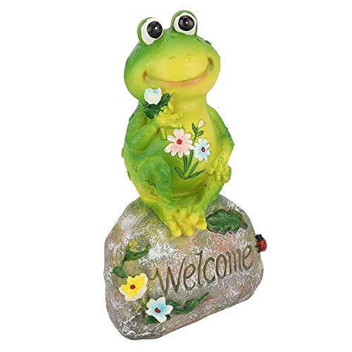 Decorazione del Giardino, Welcome Piscina da Giardino all'aperto Animale Rana Ornamento Figurine Modello Resina Yard Pond Prato Statua