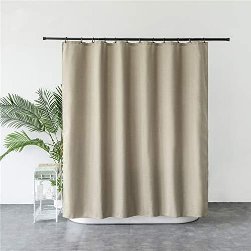 X-Labor - Tenda da doccia in lino, 240 x 200 cm, impermeabile, antimuffa, incl. 12 anelli per tenda...