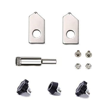 Glass Bottle Cutter Accessories Kit 8 Pack Includes 2 Pcs Cutting Heads for Bottle Cutter + 1 Glass Drill Bit + 1 Position Block + 2 Hexagon Screws + 2 Screws for Glass Bottle Cutter.