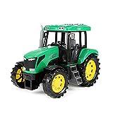 Toi-Toys Tracteur de jouet pour enfants avec lumière et son env. 27 cm (vert)