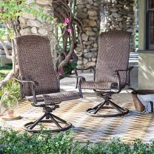 Modern Charter Dark Brown,All-Weather Resin Wicker, Aluminum Outdoor Patio Swivel Rocker Chair - Set of 2
