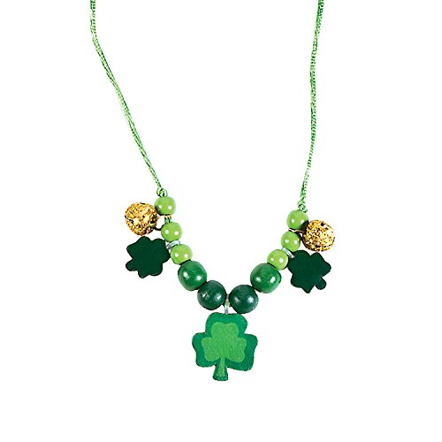 St. Patrick's Day Bead Necklace kit - Makes 12 - DIY Party Crafts