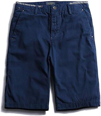 JiuRui Leisure Shorts Men Cargo Shorts Casual Short Trousers Blue Orange Army Green Khaki Color Size 28-38 (Color : Blue, Size : 33)