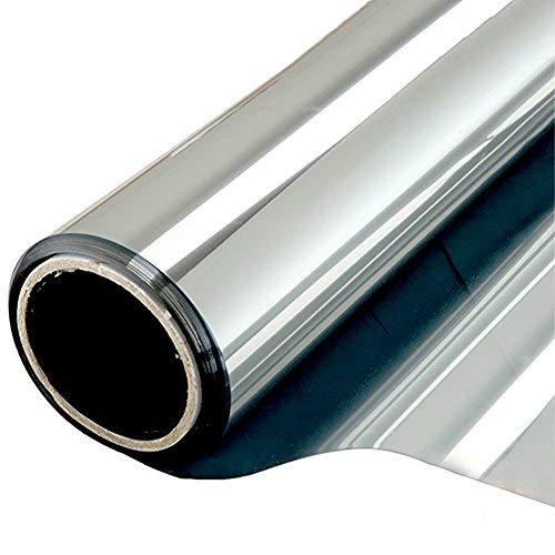 NewStar Sonnenschutzfolie | selbsthaftende Fensterfolie | UV-Schutz & Sichtschutzfolie, Kratzfest,Verdicken Materialstärke 0.1 mm (Silber, 60 x 400 cm)