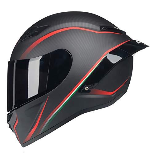 Casco Moto Modular, Casco Integral de Moto Cascos Todoterreno, Casco de Descenso de montaña Casco Integral de Motocicleta Cross Casco Casque para Mujer Hombre