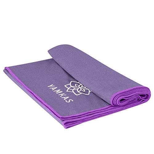 Yamkas Toalla Yoga Antideslizante • Microfibra • 183 x 61 cm • Absorvente del Sudor...