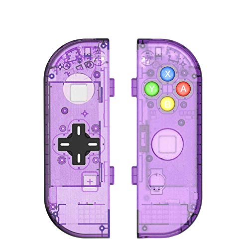 [Update Version] NS Joycon Handheld Controller Housing DIY Replacement Shell Case for Nintendo Switch Joy-Con (L/R) Without Electronics (Joycon D-Pad-Atomic Purple)