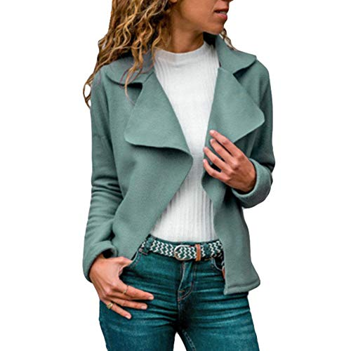 DISCOUNTL Revers Faux Wildleder Freizeitjacke Damenbekleidung College Jacke dünne jacken Damen Kurze jacken Damen Vintage Jacke Damen (Ware enthält nur Oberbekleidung)