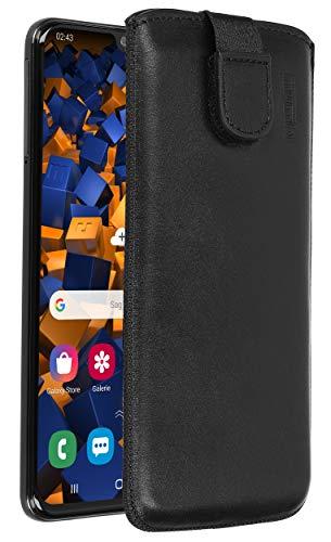 mumbi Echt Ledertasche kompatibel mit Samsung Galaxy A40 Hülle Leder Tasche Hülle Wallet, schwarz