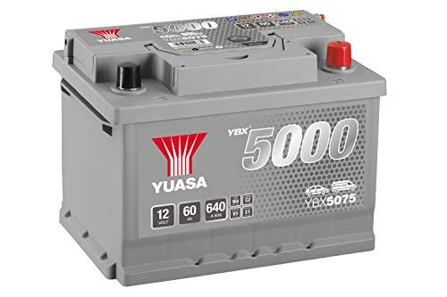 Yuasa YBX5075 12V 60Ah 620A Silver High Performance Battery