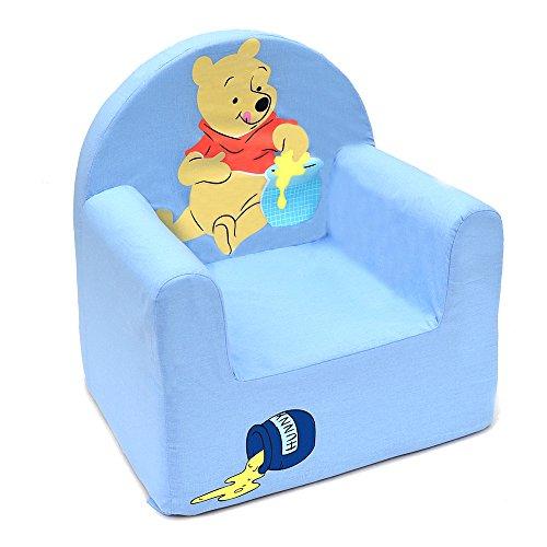 Winnie the Pooh Cars Sessel Disney in Form Club Polyurethan, Stoff, blau, 41x37.5x29.5 cm