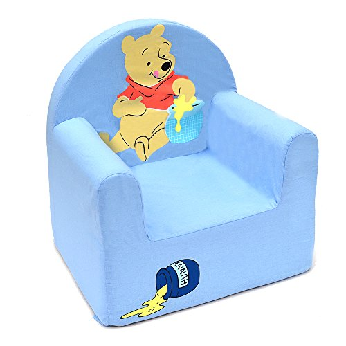 Winnie the Pooh Disney Sillón de Poliuretano Cars con Forma Club, Tela, Azul, 41x37.5x29.5 cm
