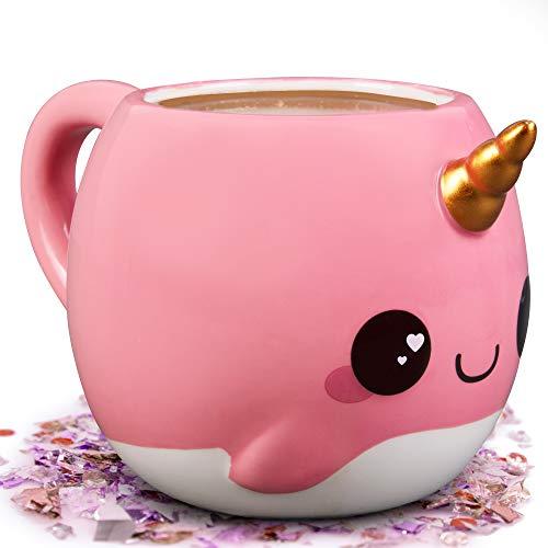 Glitter Galaxy Coffee Mug Pink Narwhal