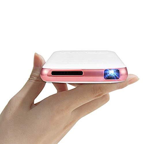 JXFS Mini proyector Smart Android Pico Características del proyector con Solo Entrada HDMI y corrección de distorsión Trapezoidal Vertical Miracast y función Airplay Proyector de Cine en casa