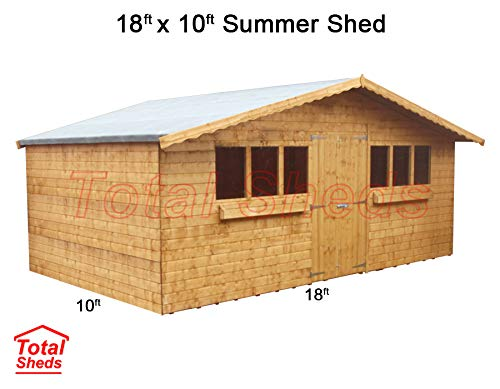Total Sheds 18ft (5.4m) x 10ft (3.0m) Garden Shed Summer Shed Timber Shed