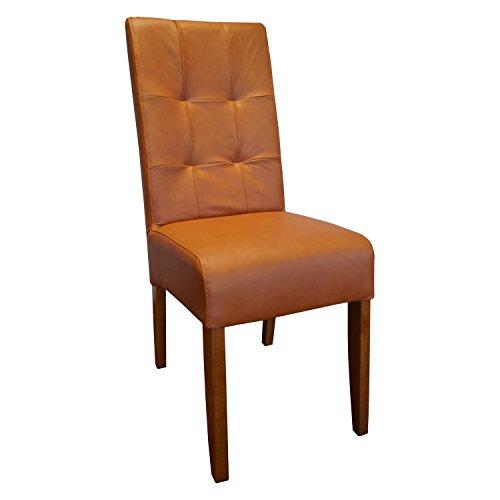 Bruin glad echt leer stoelen
