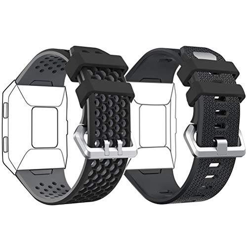 DD Kompatibel mit Fitbit Ionic Armbänder Herren Damen, Silikon Ionic Band, Einstellbare Ersatz Uhrband für Fitbit Ionic Smartwatch