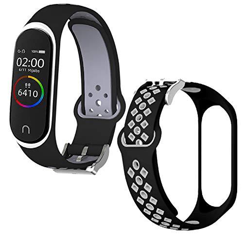 Th-some Bracelet pour Xiaomi Mi Band 4/ 3, Bracelet de Remplacement en Silicone pour Bracelet de Rechange Mi Band 4/ 3 Sangles, Bracelet de sport Compatible avec Xiaomi Mi Band 4/ 3