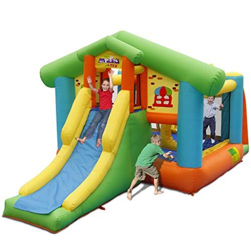 Qazxsw Castillo Inflable,Castillo De Recreo Pequeño Travieso Infantil De Interior Exterior De Niños Pequeños Juegos Inicio Plaza Trampolín,Colors,360 * 450 * 245cm