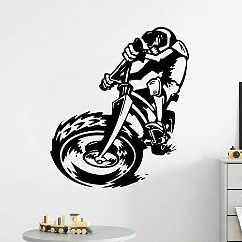 AKmene Etiqueta de la Pared de la Bicicleta PVC decoración de la habitación de los niños póster Mural 57X66cm