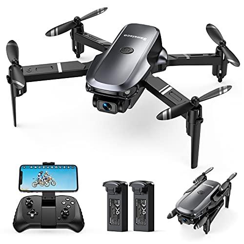 Sansisco Mini Drohne für Kinder mit Kamera 1080P HD Faltbare Drohne RC Quadrocopter mit 2 Akkus, FPV Übertragung, Lange Flugzeit, Handy Steuerung, 3D Flip, Höhenhaltung, Headless Modus für Anfänger