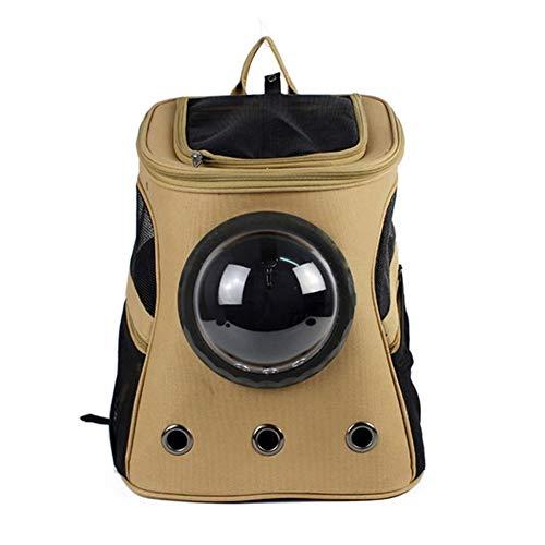 Rucksäcke für Hunde Großer Fressnapf Rucksack beweglicher Raumkapsel Breath Fenster Katzentransportkorb Hundetasche Haustiere Produkte Hunde Carriers (Color : Gold)