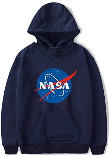 YIMIAO Mujer NASA Sudadera con Capucha Pullover Hombre Sweatshirt Unisex Hoodie(XXS)