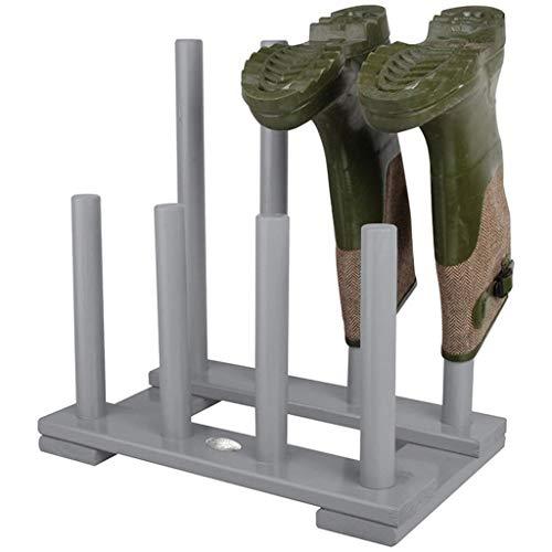 HLLNME Stiefelhalter, Schuhablage aus Kiefernholz, ca. 41,8 x 26 x 41,9 cm(4 Paar Stiefel Zahnstange)