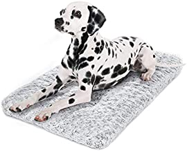 Dog Bed Kennel Pad Washable Anti-Slip Crate Mat for Large Dogs and Cats (36-inch)