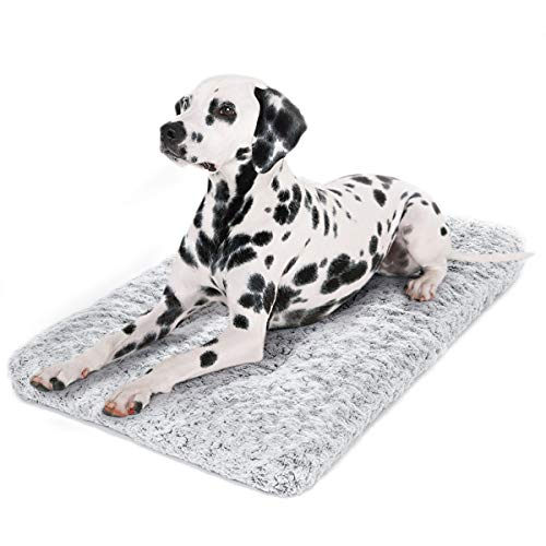 Dog Bed Kennel Pad Washable Anti-Slip Crate Mat for Small Dogs and Cats (24-inch) Baker's Beds favorites