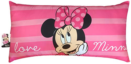 Jay Franco Disney Minnie Mouse Love Decorative Body Pillow Cover - Kids Super Soft 1-Pack Bed Pillow Cover - Measures 20 Inches x 54 Inches (Official Disney Product)
