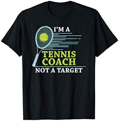 Tennis Coach tshirt I m A Tennis Coach Not A Target T Shirt product image