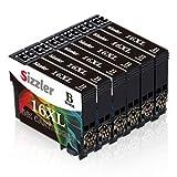 Sizzler 16 XL Reemplazo para Epson 16 16XL Cartuchos de Tinta Compatiable con Epson Workforce WF-2630WF WF-2630 WF-2510 WF-2530 WF-2650 WF-2750 WF-2760 WF-2010 WF-2540 WF-2660 WF-2520