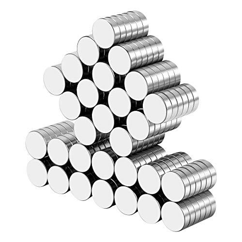 Wukong 100 Pezzi 10x3mm Magneti per Frigorifero, Calamite per Lavagna, Forte Presa Magnetica