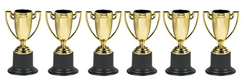 Plastik Party-Pokale, 6 Stück