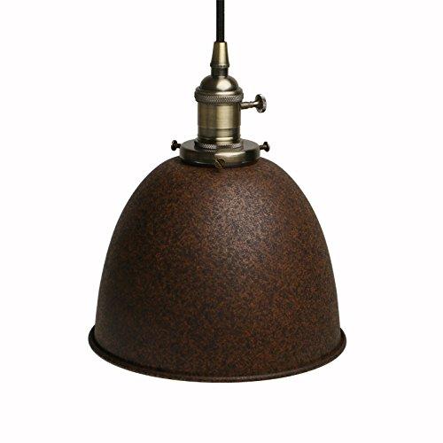 Pathson Industrie Loft-Pendelleuchte Antik Deko Design Metall Schirm innen Pendelleuchte Hängeleuchte Vintage Hängelampen Hängeleuchte Pendelleuchten (Nachahmung Rost)