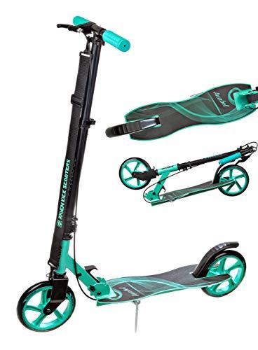 RAVEN Scooter Roller Kinderroller Cityroller Tretroller Kickroller Anabel 200mm mit Handbremse (Black/Mint)