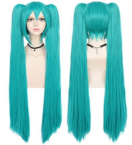 ANOGOL120cm Green Cosplay Wig Anime Long Straight Wigs for Lolita Wigs